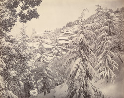 Simla in winter: The Church, &c., from near the Club